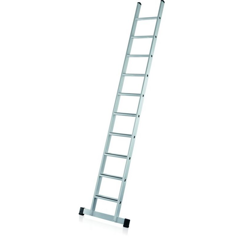 Flanged single ladder with treads, anodised (Studio)