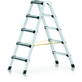Stepladder with treads and padded front edges, double-sided access (Studio)