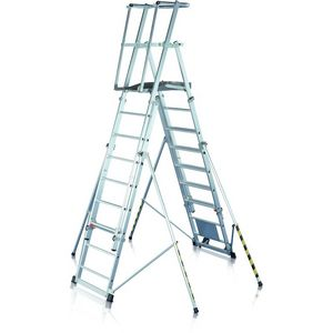 ZARGES ZAP work platforms: Telescopic platform ladders, ladders with treads, assembly platforms, work platforms ()