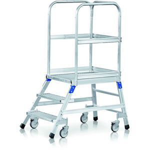 ZARGES mobile platforms: Access steps with platform, platform ladders ()