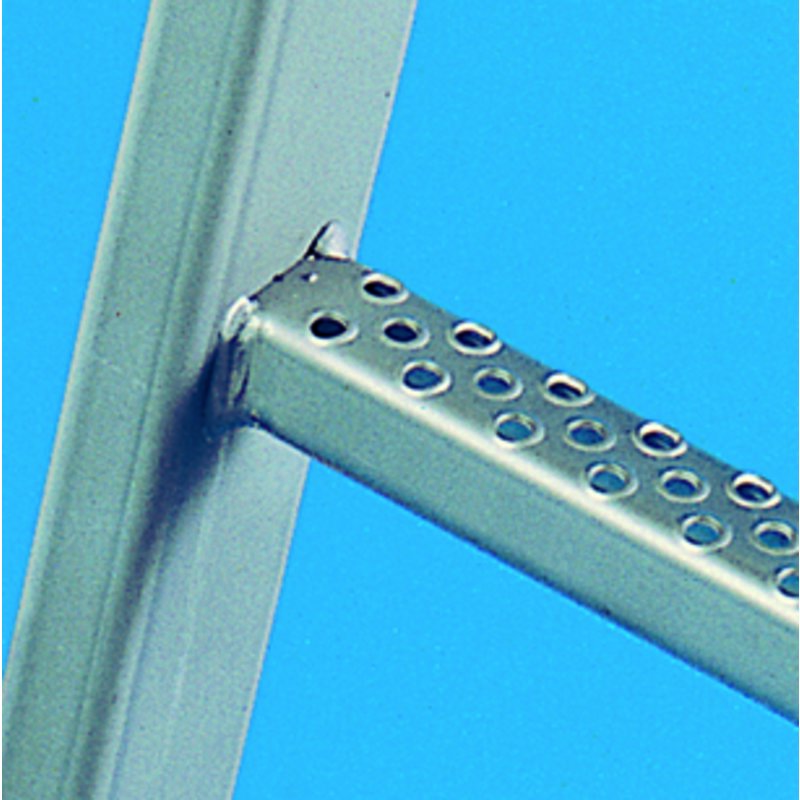 Single-section fixed ladder systems, access height of up to 10 m, V4A stainless steel (Studio)
