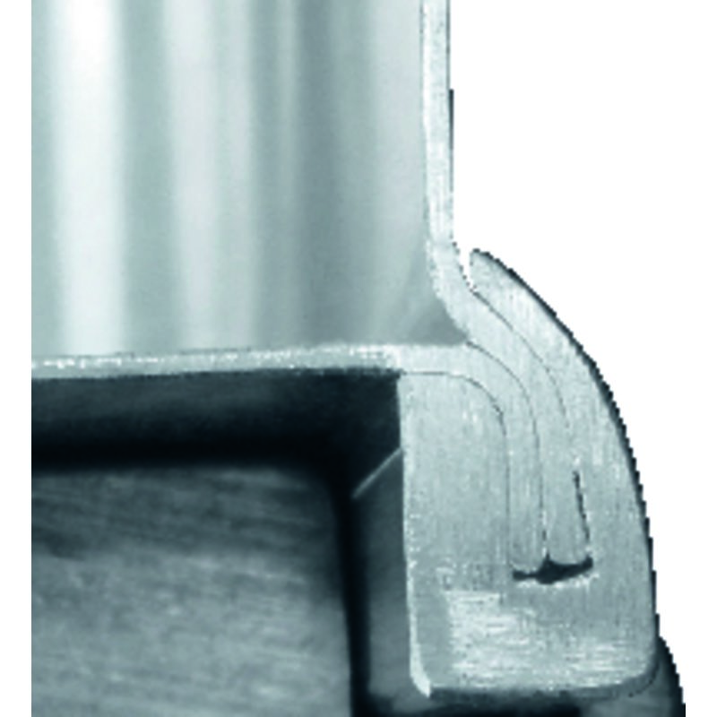 Edge, base, lid profile frames Made from full profile sections, joints fully welded to sheet metal with permanent bonding through high-strength positive locking. (Detail-Studio)