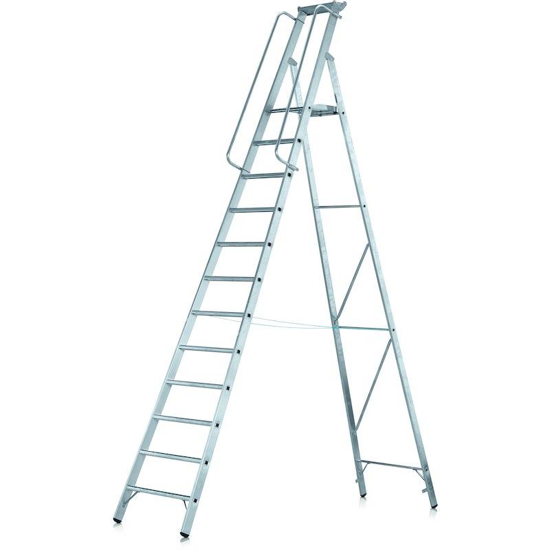 Z 600 escalera de tijera con pelda os embutidos for Escaleras zarges